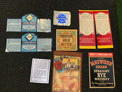 Vintage Labels Silver Polish Butter Beer Whiskey Hand soap $3.99