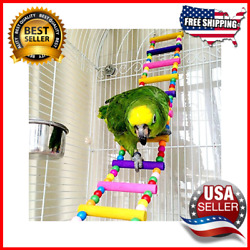 Bird Parrot Toys Ladders Swing Chewing Toys Hanging Pet Bird Cage Accessories $17.95