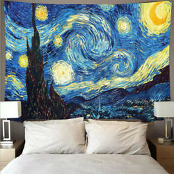 Abstract Blue Sky Tapestry Printed On Cloth Wall Hanging Living Room Home Decor $14.88