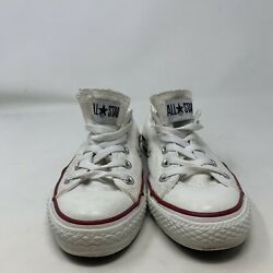 Converse All Star Women#x27;s White Lace Up Sneaker Size 6 $26.99