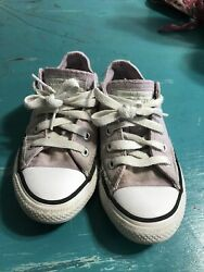 CONVERSE ALL STAR GIRLS Pink LOW TOP SNEAKERS SIZE 11 Very Good Shape $20.00