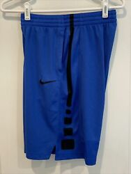 Nike Elite Dri Fit Athletic Shorts Youth Boys size XL Royal Blue Black $10.99