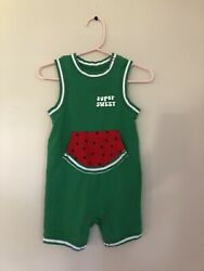 Cat amp; Jack Boys 12 Month Sleeveless Romper Watermelon Green Spring Summer $6.99