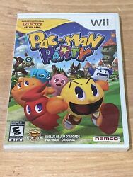 PAC MAN PARTY for Nintendo Wii System BRAND NEW and SEALED Tear In Shrink $29.99
