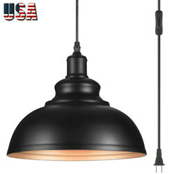 Plug in Pendant Lamp Industrial Hanging Ceiling Lamp Chandelier for Dining Room $32.99