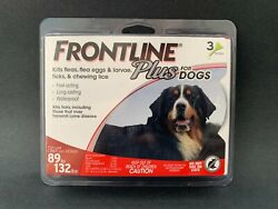 FRONTLINE Plus for Dogs 89 to 132 lbs 3 Doses NEW #S004B $22.95