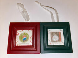 Lot of 2 Creative Memories Mini Frame Ornament Red amp; Green NEW Plastic Holiday $8.91