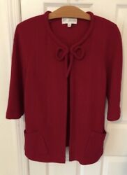 St John Collection Jacket Cardigan Red Size 4 $24.00