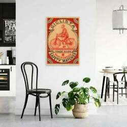 Ciclista Safety Matches Cycling Vintage Home Decor Art Wall Posters $16.99