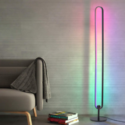 RGB Corner Floor LED Lamp Color Changing Dimmable Remote Gaming Room Living Room $130.99