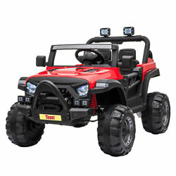 TOBBI 12V Kids Electric Battery Powered Ride On 3 Speed Toy SUV Truck Car Red $209.99