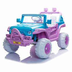 TOBBI 12V Kids Electric Battery Powered Ride On 3 Speed Toy SUV Car Blue Purple $199.99