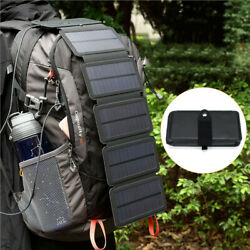 Solar Power Bank Portable Cell Phone Charger Panel Waterproof Outdoor Camping $23.74