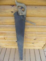 VINTAGE TREE SAW ONE MAN CROSSCUT W HANDLE HELPER $45.95
