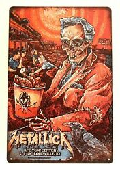 Metallica in Concert Tour Tin Poster Sign Man Cave Vintage Ad Look Retro Rustic $9.72