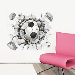 Football PVC Removable Wall Sticker Soccer Kid Boy Bedroom Wall Decal Home Decor $5.99