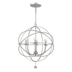 Chandelier 6 Light Dimmable Solaris Collection Ambient Hardwired Pewter $445.92