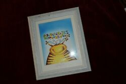 Adorable Michael P White Signed and Framed quot;Spelling Beequot; Painting $70.00