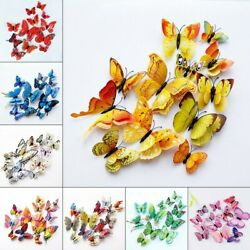 12Pcs Butterfly Wall Stickers 3D Art Decals Home Kids Room Decorations Set UK C $10.68