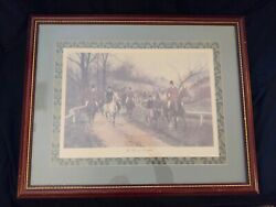 quot;The First of Novemberquot; Framed Art by George Wright Signed $40.00