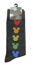 New Disney PRIDE MICKEY MOUSE Mens Socks RAINBOW COLLECTION $5.99