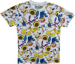 New Nickelodeon All Shows 80s 90s Cartoon All That Vintage White T Shirt Tee $17.99