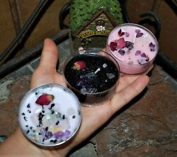 crystal and herb intention candles $11.00
