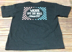 Vans Off The Wall Boys Charcoal XL Tshirt Preowned $14.50