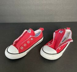 CONVERSE ALL STAR BOYS OR GIRLS RED LOW TOPS SIZE 9 722423f $12.95