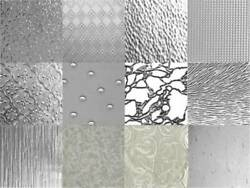 Stained Glass Variety Pack Clear Textures 6 Sheets 8x12 $18.99
