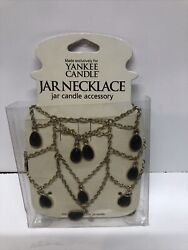 Yankee Candle Decorative Jar Necklace for Large Jars Gold with Brown beads $7.99