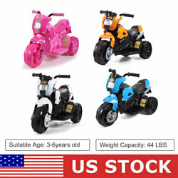 3 Wheels Electric 6V Kids Ride On Motorcycle Toy Car Battery Powered Bicycle $65.99
