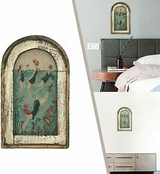 Wooden Swimming Wall Art Bathroom Home Decoration Plane Printing Wall Painting $26.89
