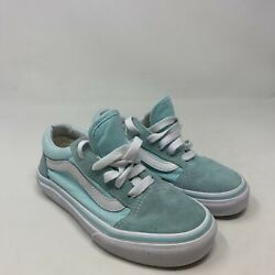 Vans Off The Wall Kids Mint Green White Lace Up Sneaker Size 13 $15.99