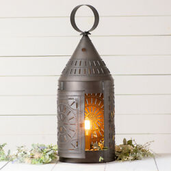 Primitive Country 36 Inch Electric Punched Tin Lantern 803CKB Free Shipping $196.00