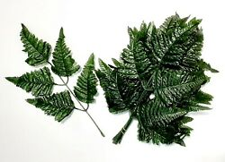11quot; Green Leather Leaf 12 PICKS Greenery Plant Home Silk Flower Decor Outdoor $8.95