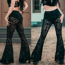Women Sexy Bohemia Lace Pants Casual Party Dance Gothic Trousers Costume Fashion $17.00
