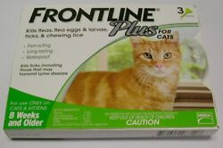 Frontline Plus for Cats amp; Kittens 3 pack 100% Genuine U.S EPA Approve $24.75