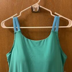 Lands End womens swimsuit blue skirted size 14 NEW $37.99