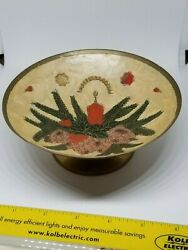 Brass Vintage Christmas bowl made in India $9.00