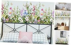 Colorful Flowers Wall Stickers Decoration Peel and Stick Wall Art Sticker Black $12.93