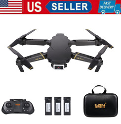 GD89 Drone Pro 1080P HD Camera3 Batteries Foldable RC Quadcopter for Kids Gift $36.56