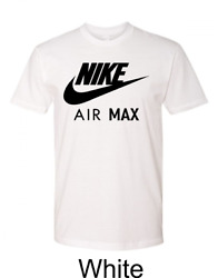 Nike Men#x27;s Air Max T Shirt Graphic Dry Fit Swoosh Logo Athletic Active Wear Gym $16.99
