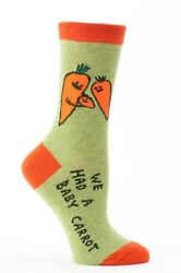 New Blue Q Ladies 'WE HAD A BABY CARROT' Novelty Socks Shoe Size 5 10 $9.99