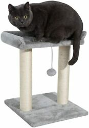 Kazura Cat Post with Top Bed Natural Sisal Covered with Hanging Teasing Ball $22.99