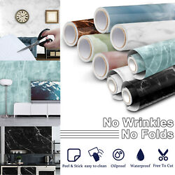 Marble Contact Paper Waterproof Wallpaper Countertop Removable Self Adhesive PVC $12.95