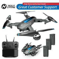Holy Stone GPS Drone With HD Camera WIFI FPV RC Foldable Quadcopter 3 Batteries $69.99