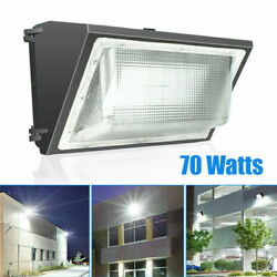 70W LED Wall Pack with Photocell Fixture 5500K Commercial Light Wall Mount Light
