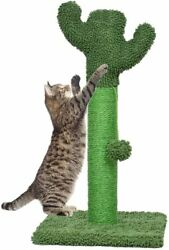 Cat Scratching Post with Natural Sisal Rope and Soft Plush Covered $16.99