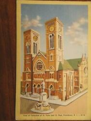 Providence Rhode Island Cathedral of St Peter amp; St Paul Postcard $12.95